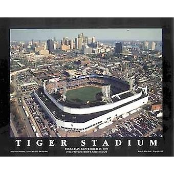 Tiger-Stadion - Detroit Michigan Poster Print von Mike Smith (28 x 22)