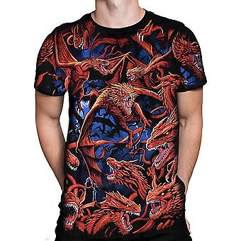 Dragon Storm  Mens Short Sleeve Tshirt