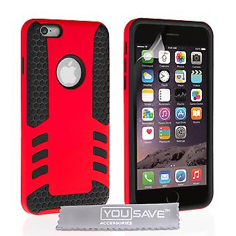 Caseflex Iphone 6 / 6s Border Combo Case - Red