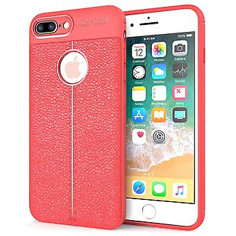 iPhone 8 Plus Gel Case Auto Camera Focus - Red