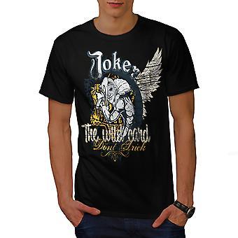 Joker Card Casino Men BlackT-shirt | Wellcoda