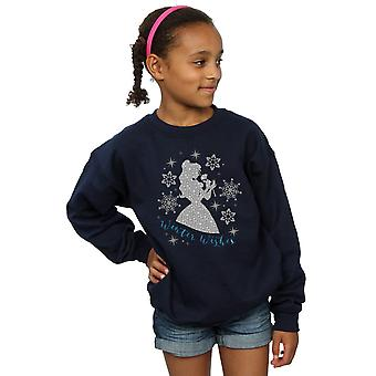 Disney Princess Girls Belle Winter Silhouette Sweatshirt