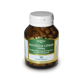 Natures Own Magnesium Citrate: 500mg , 90 capsules