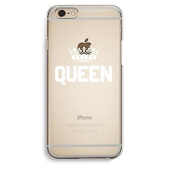 Iphone 6 6s Transparent Case (Soft) - Queen black