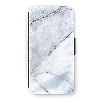 iPhone 8 Plus Flip Case - marmor vit