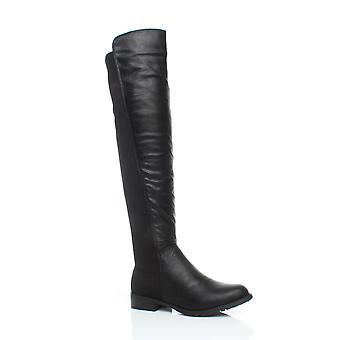 Ajvani женские высокие над упругие колена пышные растянуть тянуть на низком каблуке сапоги