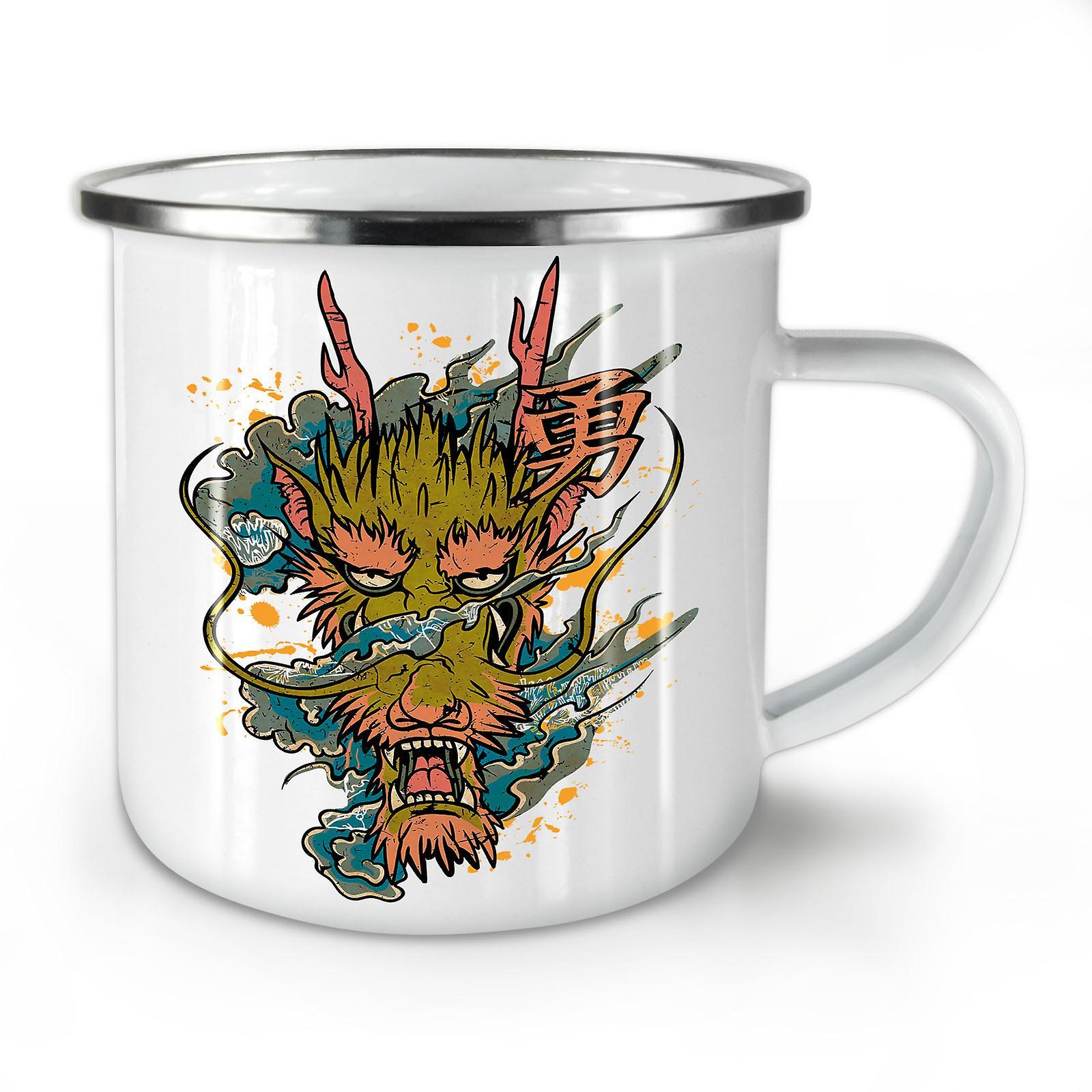 Nouveau Asiatique Mythe Dragon Mug10 Émail Whitetea OzWellcoda Café w0X8nONkZP