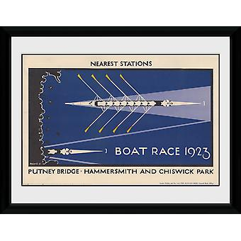 Transport For London Boat Race inramade Collector Print