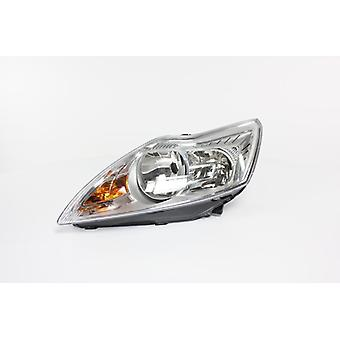Left Headlamp (Chrome Bezel Electric With Motor) For Ford FOCUS II 2008-2011