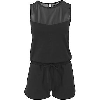 Urban classics ladies - TECH MESH hot black jumpsuit