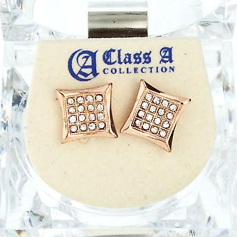 Iced out bling earrings box - KITE 10 mm rose gold