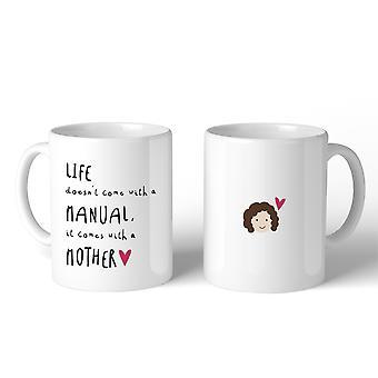 Vida Manual madre taza de café cerámica de 11 Oz