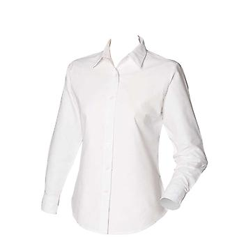 Henbury Womens Long Sleeve Classic Oxford Shirt