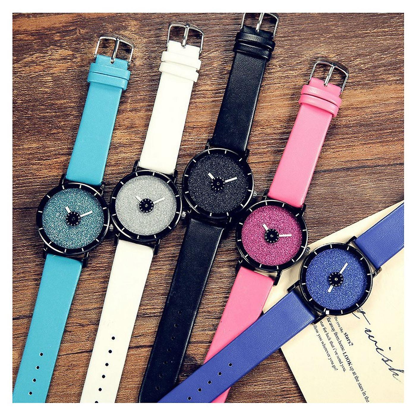 Smart Sparkle Glitter Watch Black Shiny
