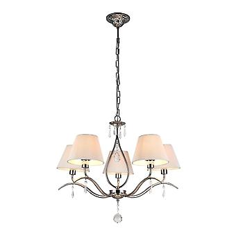 Maytoni éclairage Talia moderne Collection lustre, Nickel