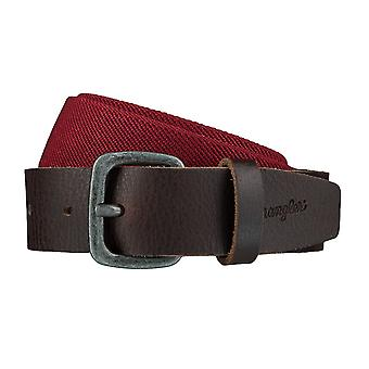 WRANGLER belt leather belts men's belts stretch belt red / brown 4082