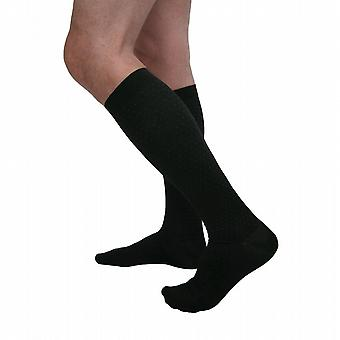 Pebble UK Mens Pin Dot Support Socks [Style P625] Black  M