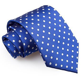 Bleu royal Polka Dot Tie classique