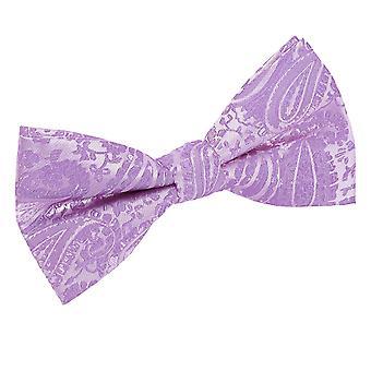 Paisley lilas pré-liés noeud papillon