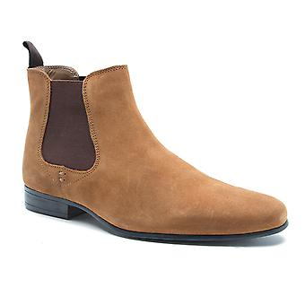 Red Tape Stanway Tan Suede Classic Chelsea Boots
