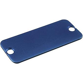 End cover Aluminium Blue Hammond Electronics 1455QALBU-10 1 pc(s)