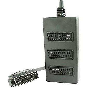 SCART TV/monitor Y adapter [1x SCART plug - 3x SCART socket] 0.2