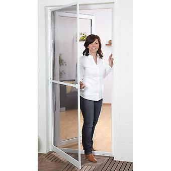 Fly screen insect protection for doors Kit aluminum frame 100 x 210 cm in Brown