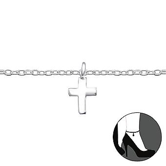 Cross - 925 Sterling Silver Anklets - W27660x