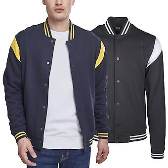 Urban classics - inset College sweat fleece jacket