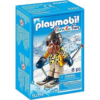 Playmobil 9284 esquiador diversión familiar con los postes figura Playset