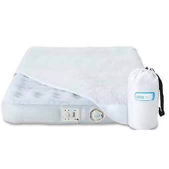 Aerobed Deluxe Single Airbed UK Light Blue