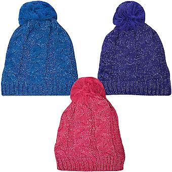 ProClimate Thinsulate Waterproof Winter Cable Knit Pom Pom Bobble Beanie Hat