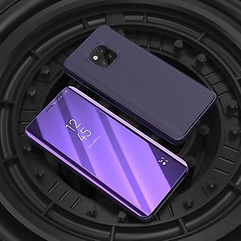 För Samsung Galaxy J6 plus J610F klar spegel spegel smart skal lila skyddande fall cover pouch väska fall nya fall vakna upp funktion
