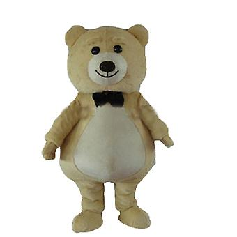 mascot big Teddy bear plush beige and white SPOTSOUND