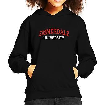 Emmerdale University Kid's Hooded Sweatshirt