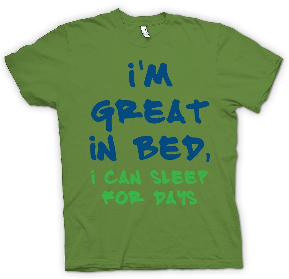 Mens t-skjorte - Im store i seng, jeg kan sove i dager - Funny