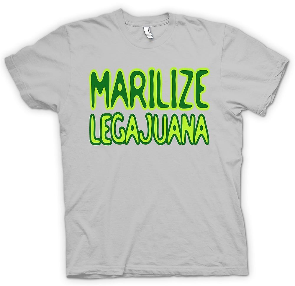 Hommes T-shirt - Marilize Legajuana Weed