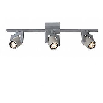 Lucide Conni-LED industriële rechthoek metalen plafond Spot Light Grey