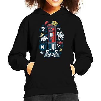 Post Box Man With Letter Kid's Hooded Sweatshirt