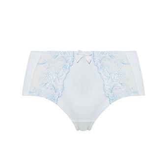 Guy de France 821661-D Women's Ice Blue Embroidered Knicker Shorties Boyshort