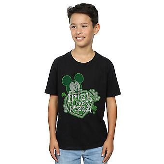 Disney Boys Mickey Mouse Shamrock Pizza T-Shirt