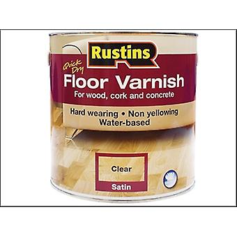 Rustins Quick Dry Floor Varnish Satin 1 Litre