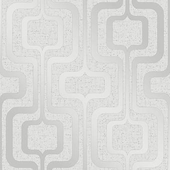 Fine Decor Quartz Retro Silver Metallic Pastel Glitter Textured Vinyl Wallpaper