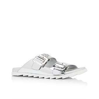 DKNY Womens Maya läder öppen tå Casual Slide sandaler