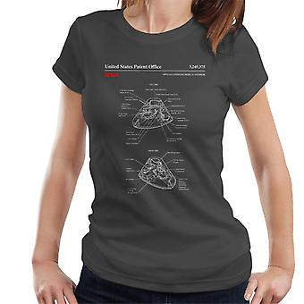 NASA Apollo Befehl Modul innere Blaupause Damen T-Shirt