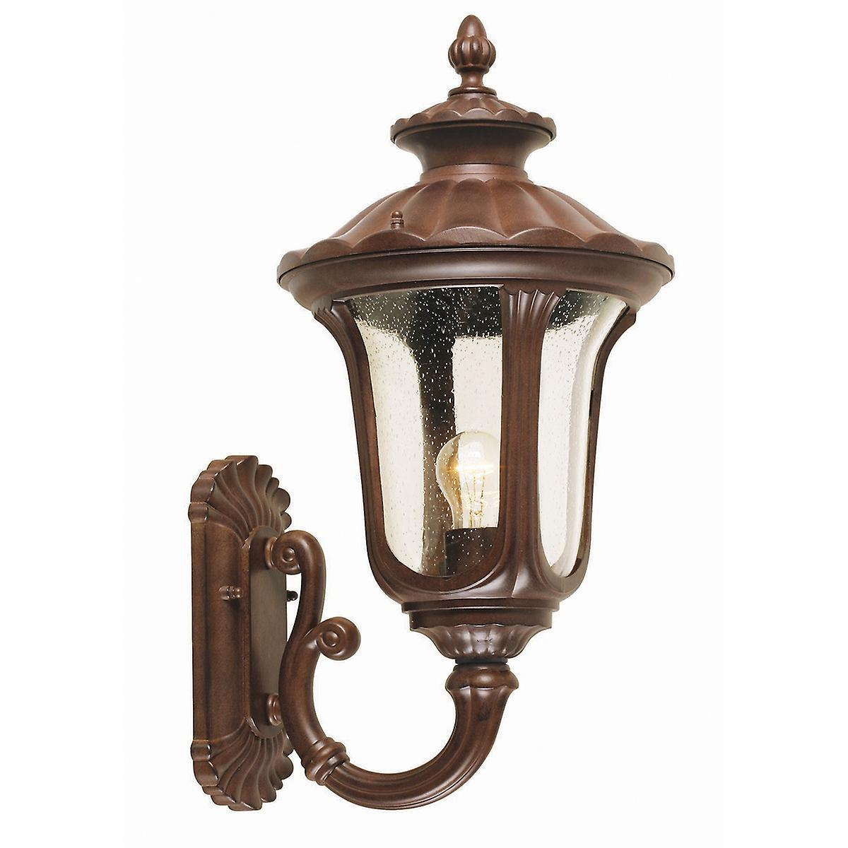 Elstead CC1/M Chicago Medium Outdoor Wall Up Lantern with Textured Glass