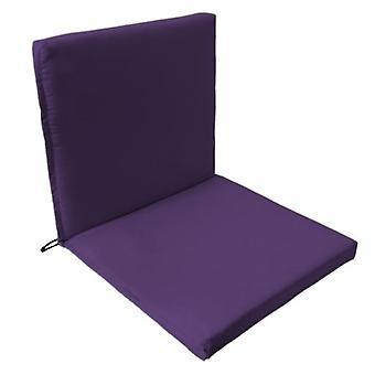 Gardenista® violetti vedenkestävä kaksiosainen tuoli istuin pad, pakkaus 4