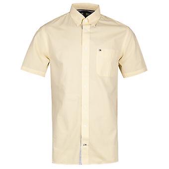 Tommy Hilfiger Classic Stripe Short Sleeve Yellow Shirt