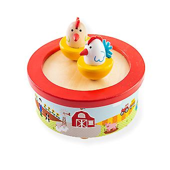 Bigjigs Toys Wooden Farm Music Box