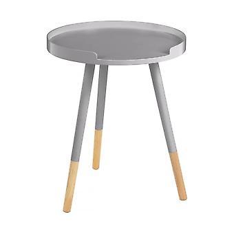 Tavolo circolare Fusion Living Grey con gambe con punta di faggio